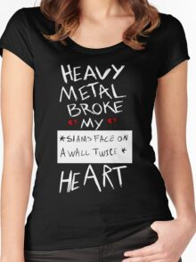 Fall Out Boy Centuries - Heavy Metal Broke My Heart Women's Fitted Scoop T-Shirt