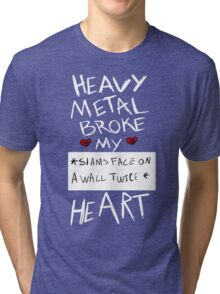 Fall Out Boy Centuries - Heavy Metal Broke My Heart Tri-blend T-Shirt