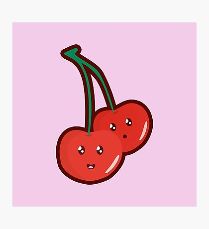 Kawaii Cherry Photographic Print