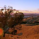 sunset over the hume weir,panorama by dmaxwell