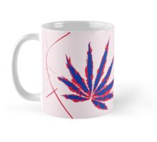 Crazy Marijuana Leaves and Scratches on Pink Mug