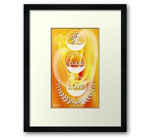The Language of Love-  Art + Products Design  Framed Print