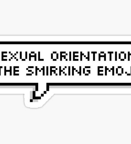 Sexual Orientation: Smirking Emoji Sticker