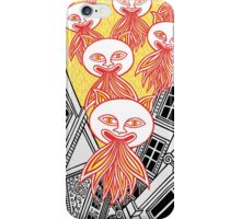 Devil cats come to town iPhone Case/Skin
