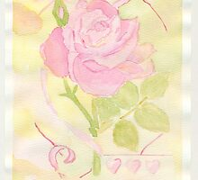 My First Watercolor Rose by Sandra Foster