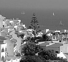 Albufeira, Algarve - B&W by Tom Gomez