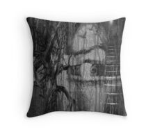 Living in Fear Throw Pillow