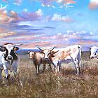"""Kefford's Cattle II"" by Lynda Robinson"