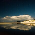 Rarawa Beach at night by Paul Mercer