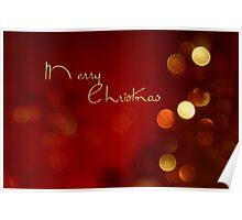 Merry Christmas bokeh card Poster