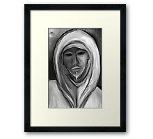 White Watcher Framed Print