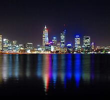 Perth At Night by Alex Mokrzycki