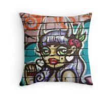 Melbourne grafitti Throw Pillow