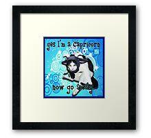 Checkers Capricorn Framed Print