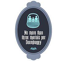 Three Mortals per Doombuggy Photographic Print