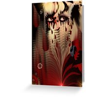 Blood From My Eyes Greeting Card