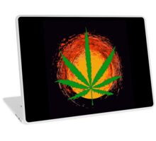 Marijuana Leaf and the Sun Laptop Skin