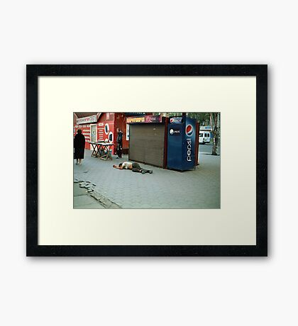 Irresponsible Salesman Of Pepsi ★ Drink Different Framed Print