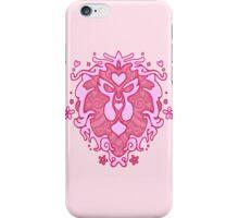 Girly Lion Crest iPhone Case/Skin