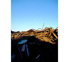rubble at dusk Photographic Print