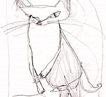 a scribble cat by Shylie Edwards