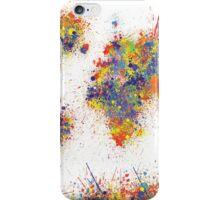 World Map splats iPhone Case/Skin