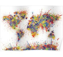World Map splats Poster