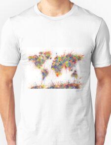World Map splats T-Shirt