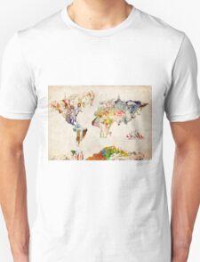 World Map landmarks 3 T-Shirt
