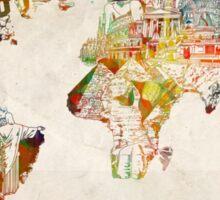 World Map landmarks 3 Sticker