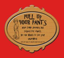 Pull Up Your Pants One Piece - Short Sleeve