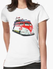 Ghostbusters Volkswagen Van Womens Fitted T-Shirt