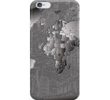 World Map silver iPhone Case/Skin