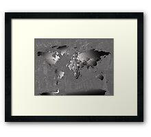 World Map silver Framed Print