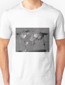 World Map silver T-Shirt