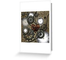 Steampunk, clocks and gears  Greeting Card