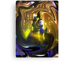 Mad T Party Mad Hatter and Alice Canvas Print