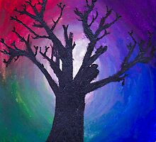 The Dark Tree and the Colorful Beyond by Ciara-Monet