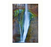 Desert Falls Abstract Patterns and Colors, Calf Creek Falls, Utah Art Print