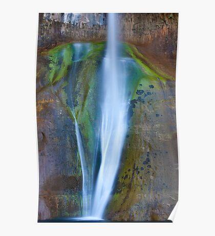 Desert Falls Abstract Patterns and Colors, Calf Creek Falls, Utah Poster