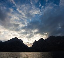 Jenny Lake Sunset, Grand Teton National Park, Wyoming by Alan C Williams
