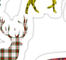 Tartan Stag T-Shirt Sticker