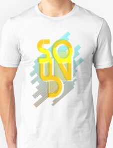 Sound Retro Style sign in yellow and blue T-Shirt