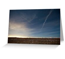 International Space Station and shuttle Atlantis STS-129 Greeting Card