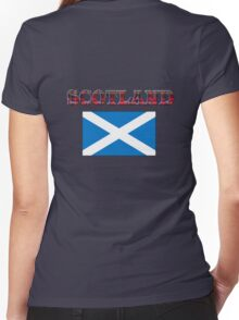 Scotland T-Shirt Women's Fitted V-Neck T-Shirt