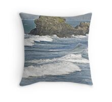 """ Wind over out going Tide at St Agnes Throw Pillow"