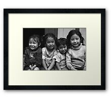 Laughter is a universal language Framed Print