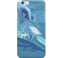 ballet dancer shoe blue iPhone Case/Skin