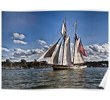 The pride of Baltimore - Tall Ships - Erie, PA Poster