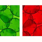 green & red honesty by elisabeth tainsh